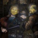 Obie Platon - Police of God (120cm-100cm) (Oil on canvas)
